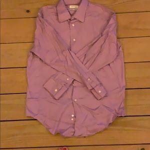 Calvin Klein Slim Fit Stretch Button Down Shirt